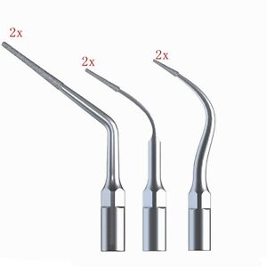 6 Pcs Dental Diamond Coated Ultrasonic Piezo Scaler Endo Tips Fit Ems Woodpecker