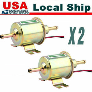 2xnew Universal 12v Electric Fuel Pump Inline Diesel Petrol Low Pressure Hep To