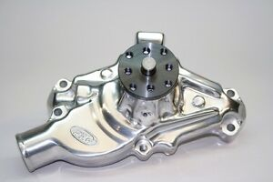 Prw Chevy Sbc High Performance Aluminum Water Pump Short Style Polished