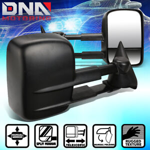 For 1988 2002 Chevy Gmc C k 1500 2500 3500 Pair Manual Extended Towing Mirror