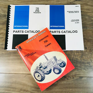 Set International Farmall 756 Tractor Owner Operator Parts Manuals Catalog Book