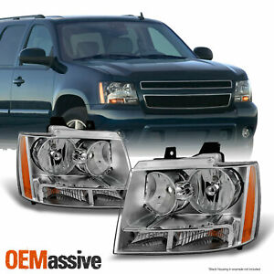 Fit 07 14 Chevy Avalanche Suburban Tahoe Headlights L R Replacement