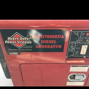 Heavy Duty Power Systems 7000eda 7000watt Diesel Generator may45