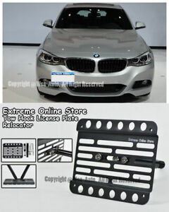 For 14 Up Bmw F34 3 Series Gran Turismo Stand Tow Hook License Plate Bracket
