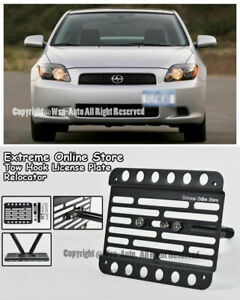 For 05 10 Scion Tc Front Bumper Tow Hook License Plate Mount Relocator Bracket