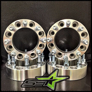 8x170 Wheel Spacers 2 Inch 50mm 99 02 8 Lug Adapters Ford Superduty Excursion