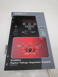 Beckwith Electric Digital Voltage Regulator Control M 6200a Used Takeout M offer