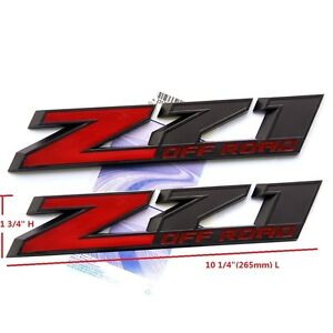 2x Oem 10 Big Z71 Off Road Emblem Badges 3d Silverado Ford 2500hd F Black Red