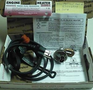 Engine Block Heater 35mm New Holland 87026924 Ls Tractor Engine Block Heater