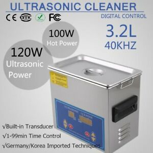 Cleaning 3 2l Liter Digital Industry Heated Ultrasonic Cleaner Heater W timer Tb