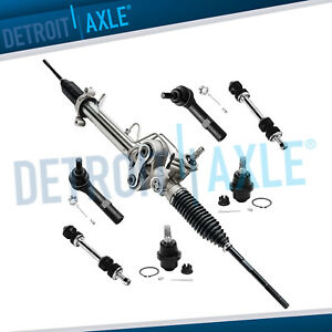 7pc Power Steering Rack And Pinion Ball Joint Inner Outer Tierod Sway Bar