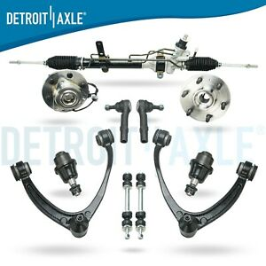 11pc Wheel Bearing Control Arm Power Rack And Pinion Suspension Kit 4x4 Abs