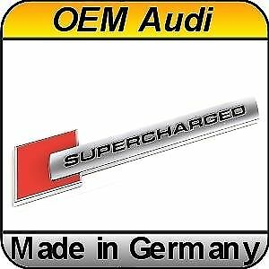Original Audi Supercharged Badge Genuine Oem Rs S line For All Audi Models