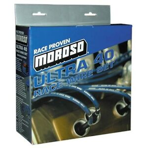 Moroso 73630 Spark Plug Wires Ultra 40 Spiral Core 8 65mm 45 Degree Boots