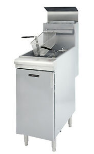 Commercial Natural Gas 45 50lb Deep Fryer Frialator 120k Btu