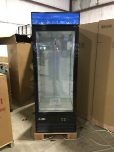 Commercial Single Glass Door Refrigerator Merchandiser Brand New Cooler
