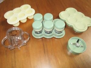 Magic Bullet Baby Bullet Food Making System Accessories EUC