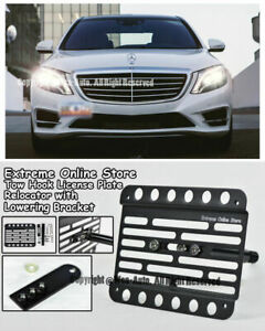 For 14 up S class Sedan W Pdc Front Tow Hook License Plate W Extension Bracket
