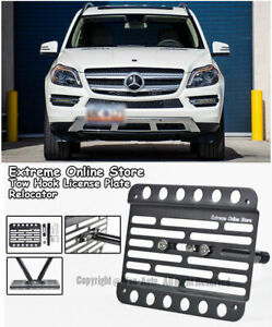 For 13 16 Mercedes benz X166 Gl350 Gl450 Front Tow Hook License Plate Bracket