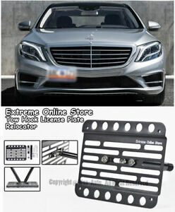 For 14 up Benz S class Sedan No Pdc Front Tow Hook License Plate Bracket Holder
