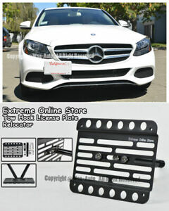 For 15 up Mb W205 C class Sedan 4dr No Pdc Front Bumper Tow Hook License Plate