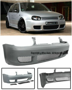 R32 Style Front Bumper W Mesh Grille For Mk4 Volkswagen Golf Gti Cover Iv