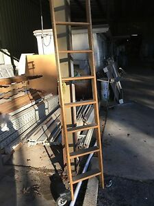 Rolling Wood Ladder