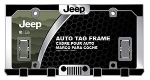 New Jeep Elite Grill Chrome Metal Car Truck Suv License Plate Frame Front Rear