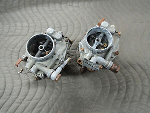 Porsche 356 Zenith Carburetors For Parts Or Rebuild 32mm 9 62