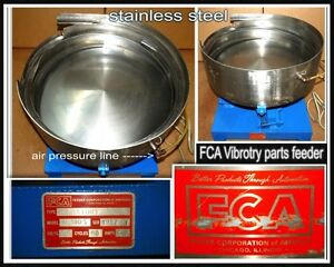 Stainless Steel Vibratory Parts Feeder Bowl Fca 18 Bowl