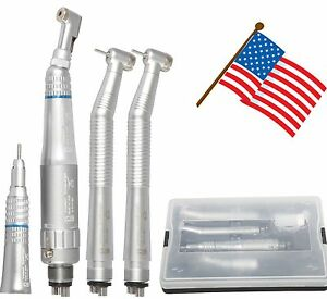 Dental Nsk Style Push Button High Low Speed Handpiece Kit 4 Holes Usa Stock