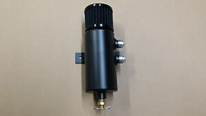 Dual Right Aluminum Baffled Oil Catch Can Breather Can W Drain Valve And Filter