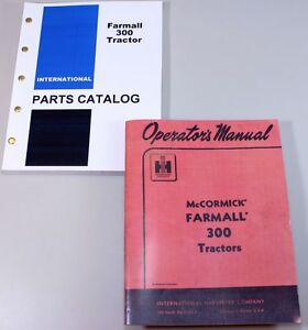 Set International Farmall 300 Tractor Owner Operator Parts Manuals Catalog Book