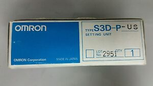 nib Omron S3d p us Setting Unit made In Japan