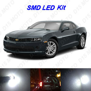 4x White Led Interior Bulbs License Plate Lights For 2010 2015 Chevy Camaro