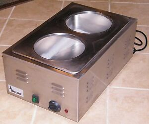 Challenger 2 Bowl Commercial Stainless Soup Warmer Model Efw 120v 10a