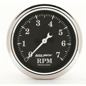 Auto Meter 1797 2 1 16 In dash Tachometer 0 7 000 Rpm Old Tyme Black