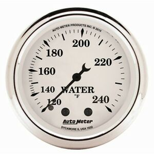 Auto Meter 1632 2 1 16 Water Temperature Gauge Mechanical Old tyme White