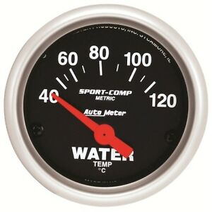 Auto Meter 3337 M 2 1 16 Water Temperature Gauge Air Core Sport Comp