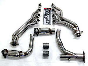 Obx Long Tube Header W Cats Fit 2007 08 Chevy Gmc Suv Truck 4 8 5 3 6 0l 2 4wd