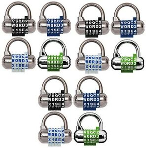 12 Ea Master Lock 1534d 2 1 2 Set Your Own Word Combination Locks