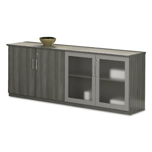 Medina Series Low Wall Cabinet With Doors 72w X 20d X 29 1 2h Gray Steel Box2