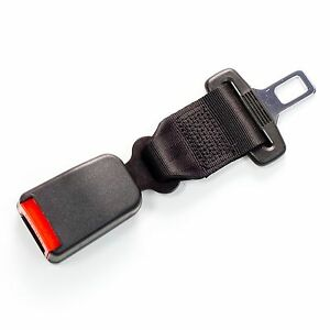 7 Seat Belt Extension 1 Metal Tongue Buckle Black E4 Safety Certified