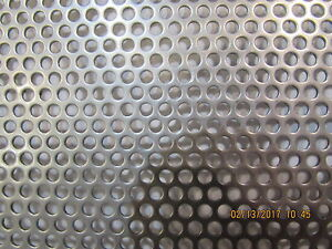 1 8 Holes 20 Gauge 304 Stainless Steel Perforated Sheet 12 X 12