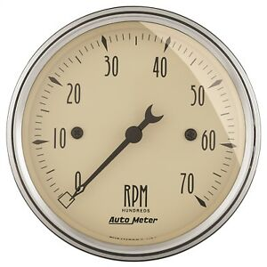 Autometer 1898 Antique Beige Electric Tachometer