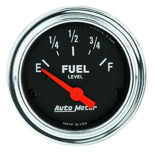 Autometer 2517 Traditional Chrome Electric Fuel Level Gauge