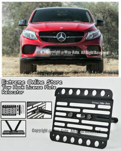 For 16 up Benz Gle450 Amg Coupe Only Front Bumper Tow Hook License Plate Bracket