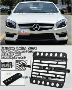 For 12 2016 Benz R231 Sl class Front Tow Hook License Plate W Lowering Bracket