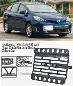 Front Bumper Tow Hook License Plate Mount Bracket For 15 Up Toyota Prius V