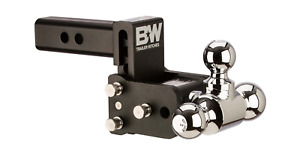 B W Ts10047b Tow Stow Adjustable Folding Magnum Trailer Hitch Tri Ball 3 Ball